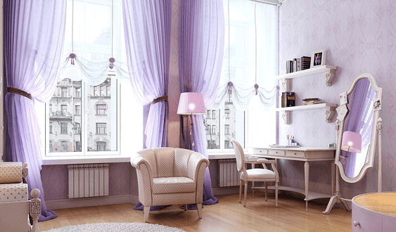 أفكار جديدة لكيفية توصيف لون الافندر في المنزل بطريقة جذابة و شيك