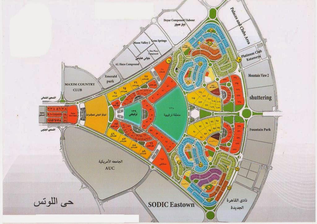 خريطة حى اللوتس التجمع الخامس